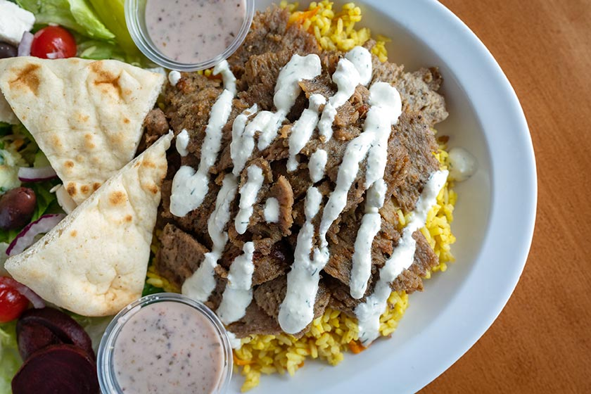 Greekos Grill and Cafe - Gyro Over Rice