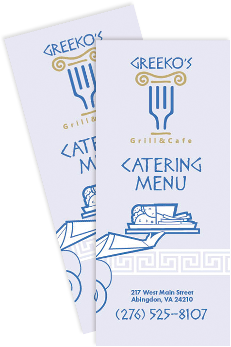 Greekos Grill and Cafe Catering Menu